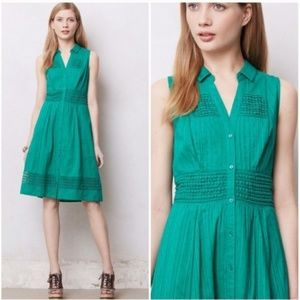Maeve Swiss Dot Shirt Dress